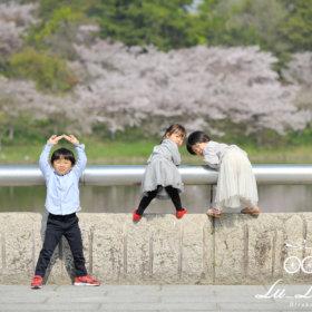 桜記念撮影